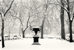 Michael Kenna, Winter Morning, Gramercy Park, New York, New York, 2003, gelatin silver print, 6  x 9 inches