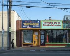 Templo De la Santa Muerte, Pico Boulevard, Los Angeles, chromogenic print