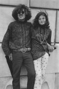 Couple outside of an art museum, Detroit, 1968