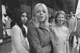 Suburban girls shopping in downtown Detroit, Detroit, 1968