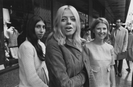 Suburban girls shopping in downtown Detroit , 1968