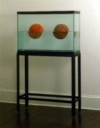 Jeff Koons  Two Ball 50/50 Tank (Spanding Dr. J Silver Series, Wilson Supershot), 1985