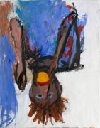 Georg Baselitz Orangenesser IX, 1981 oil and tempera on canvas