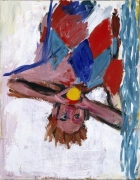 Georg Baselitz Orangenesser III, 1982 oil on canvas
