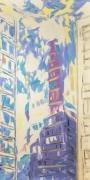 Martha Diamond, New York with Purple no. 3,2000