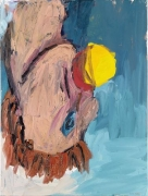 Georg Baselitz Orangenesser X, 1981 oil and tempera on canvas