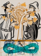 David Salle  Untitled  2020  acrylic and oil bar on paper