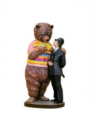 Jeff Koons, Bear and Policeman, 1988