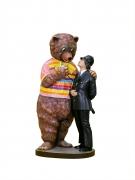 Jeff Koons  Bear and Policeman, 1988