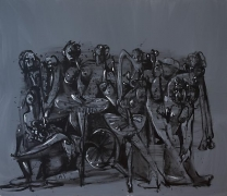 George Condo, Gray Ballet, 1998oil on canvas60 x 70 inches (152.4 x 177.8 cm)