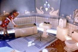 Laurie Simmons  First Bathroom/Woman Standing Left, 1978