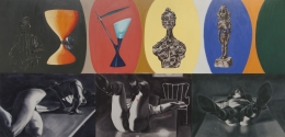 David Salle, Fooling with your Hair, 1985