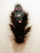 Mike Kelley, Double Figure (Hairy), 1990Found stuffed animals26 x 15 x 7 inches (66 x 38.1 x 17.8 cm)