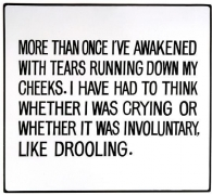 Jenny Holzer, Living Series: More than once I've awakened with, 1981