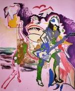 Martin Kippenberger, Ausländisch, 1990Oil on canvas94.49 x 78.74 inches (240 x 200 cm)