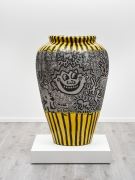Keith Haring Untitled, 1981 marker on fiberglass vase