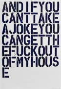 Christopher Wool Untitled (And If You Can't...), 1992