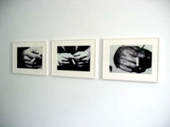 Richard Prince, Untitled (Hands with Cigarettes), 19803 Black and white photographs20 x 24 inches each, 50.8 x 61 cm