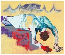 Martin Kippenberger, Untitled (from the series The Raft of Medusa), 1996oil on canvas. 39.37 x 47.24 in (100 x 120 cm)© Esta…