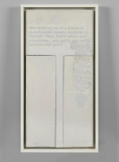 Untitled (Protest Painting)1982-1992Acrylic, silkscreen, graphite, and paper on canvas37.75 x 19.5 inches