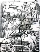 Albert Oehlen, Festnahme, 1996oil and acrylic on canvas96.45 x 75.19 inches (245 x 191 cm)