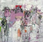 George Condo, Interlocking Figures, 2010