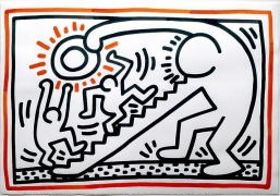 Keith Haring, Untitled, 19882 colour sumi ink on paper43 1/2 x 30 inches (110.5 x 76.2 cm)signed and dated on the reverse Ap…