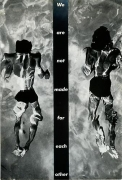 Barbara Kruger, Untitled (We are not made for eachother), 1983photograph and type on paper10 x 6 3/4 inches (25.4 x 17.1 cm)