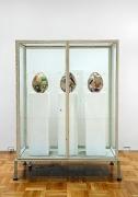 Martin Kippenberger, Untitled (Showcase with egg sculptures), 1996