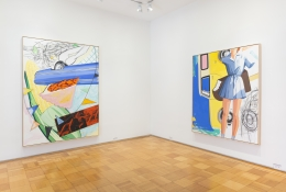 Installation View David Salle Ham and Cheese New York