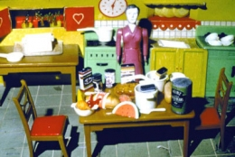 Laurie Simmons Purple Woman/Kitchen, 1978