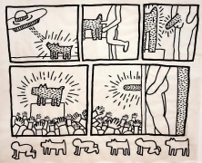 Keith Haring Untitled (Glowing Dog), January 16, 1981