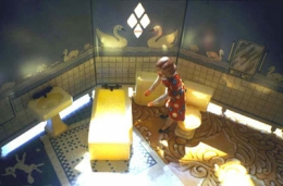 Laurie Simmons  New Bathroom/Aerial View/Sunlight, 1979