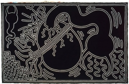 Keith Haring, Untitled, 1988Acrylic on canvas137 x 216 inches (348 x 548.6 cm)