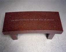 Jenny Holzer, Survival: The beginning of the war..., 1989