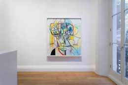 Installation view London Group Show George Condo Painting