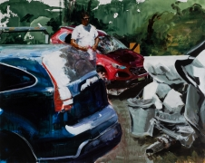 Eric Fischl  Late America #3: Picking Up The Pieces