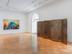 Installation View Sherman Left Haring Right