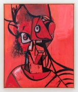 George Condo Red Toy Head , 2014