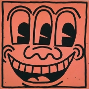Keith Haring, Untitled, 1981Enamel on Metal48 x 48 inches (121.9 x 121.9 cm)