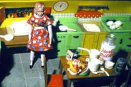Laurie Simmons  Blonde/Red Dress/Kitchen/Milk, 1978