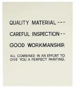 John Baldessari Quality Material, 1967-1968