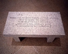 Jenny Holzer, Living Series: When you've been someplace..., 1989