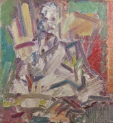 Frank Auerbach David Landau Seated, 2011-12