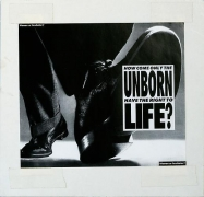 Barbara Kruger, Untitled (How come only the unborn have the right to life?), 1986photograph and type on paper9 3/4 x 10 1/8 …