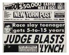 Andy Warhol, New York Post (Judge Blasts Lynch)