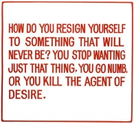 Jenny Holzer, Living Series: How do you resign yourself to, 1981