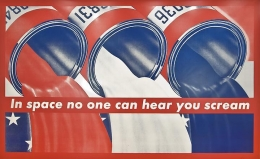 Barbara Kruger, In Space No One Can Hear You Scream, 1987