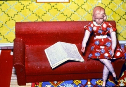 Laurie Simmons Woman/Red Couch/Newspaper, 1978