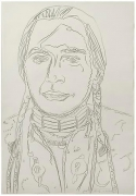 Andy Warhol, The American Indian (Russell Means), 1976